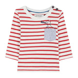 Baby Boys Dino Striped Long-Sleeve Top