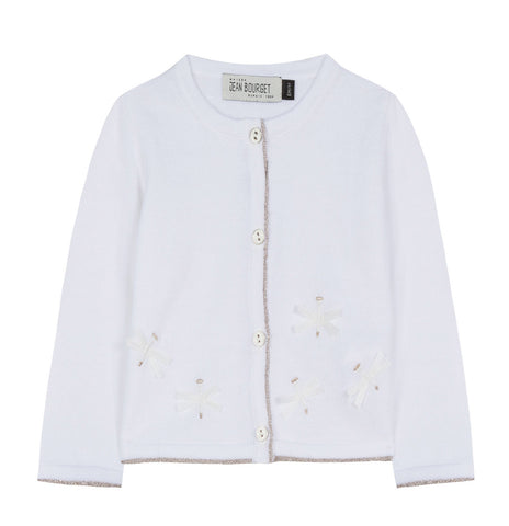 Baby Girls Dragonfly Embroidered Cardigan