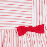 Baby Girls Red Striped Dress