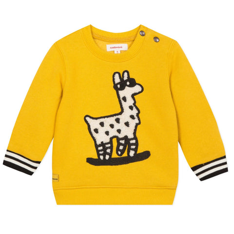 Baby Boys Yellow Llama Sweatshirt