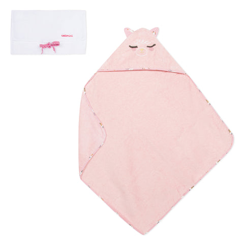 Pink Hooded Terry Towel