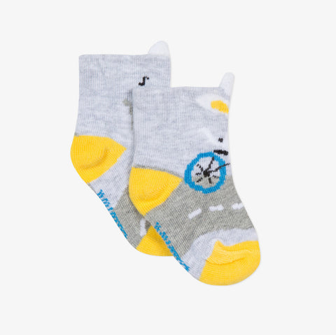 Baby Boys Jacquard Socks with Rabbit Design