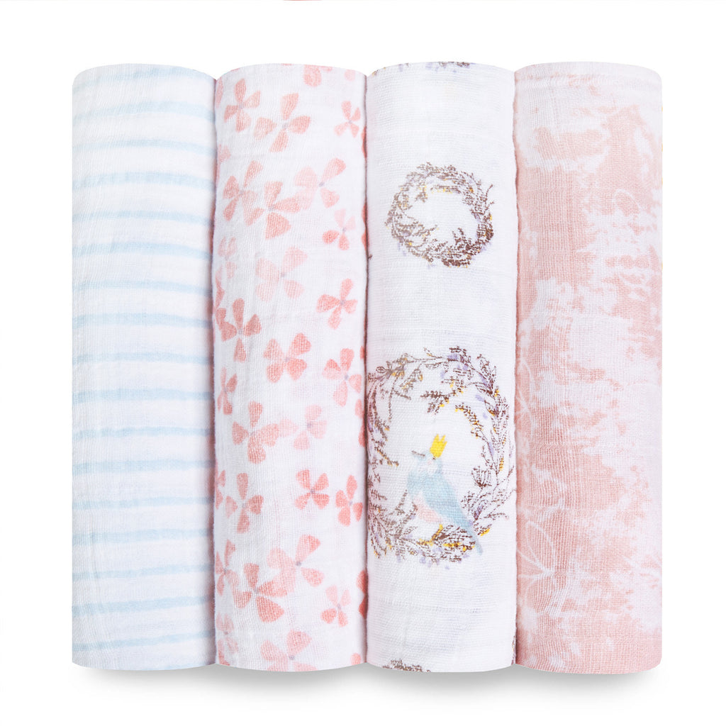 4-Pack Classic Swaddles - Birdsong