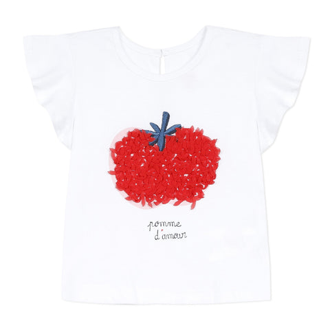 Girls 3D Apple T-shirt