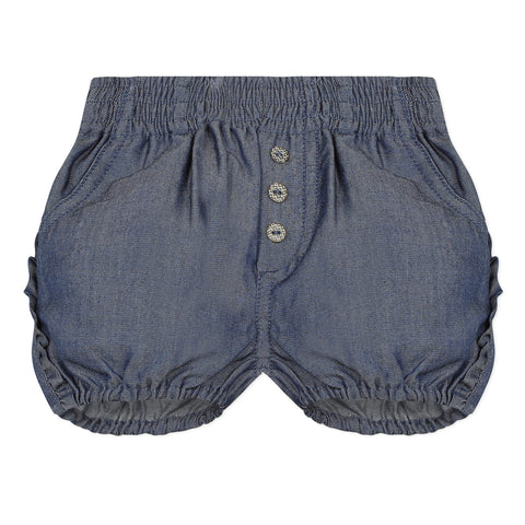 Girls Bubble Denim Shorts