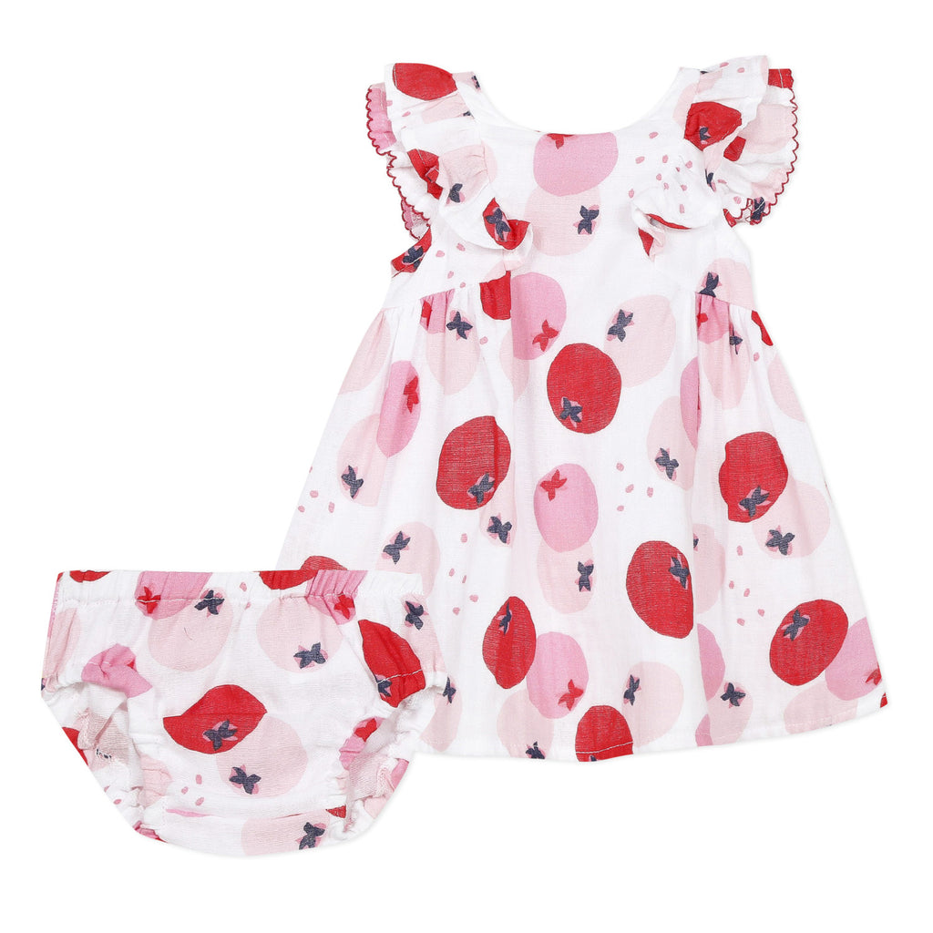 Baby Girls Rouge Printed Dress and Bloomer Set