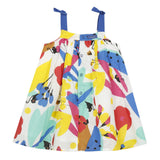 Girls Safari Floral Print Sleeveless Dress