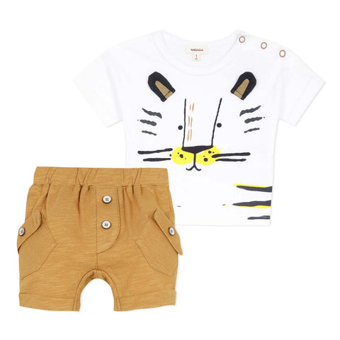 Baby Boys Tiger T-shirt and Short Set