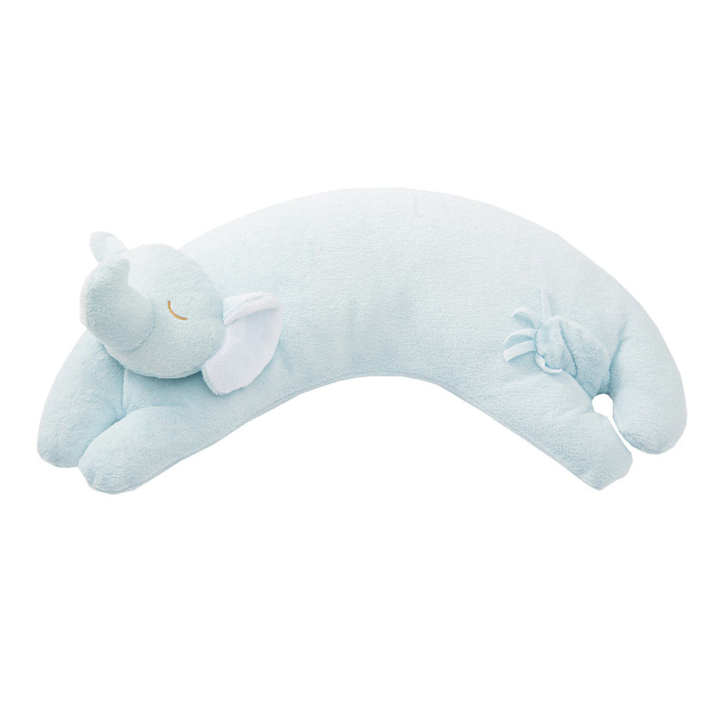 Blue Elephant Curved Pillow
