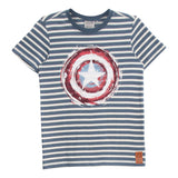 Captain America Embossed T-Shirt