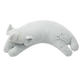 Grey Elephant Curved Pillow