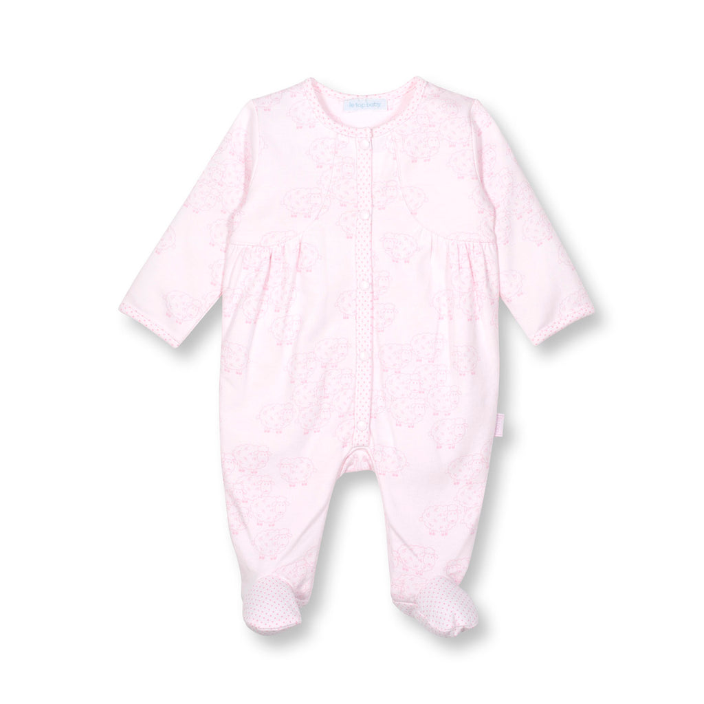 Little Lamb Footie Jumpsuit Pink