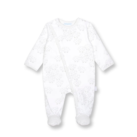 Little Lamb Footed Coverall Grey