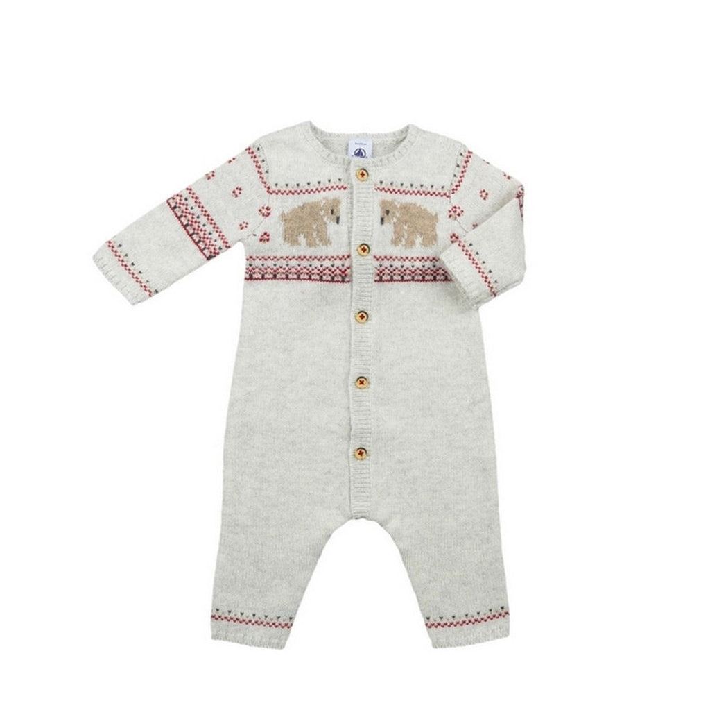 Baby Romper with Jacquard Detail