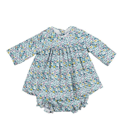 Baby Girls Printed Dress and Bloomers
