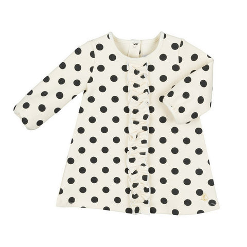 Baby Girl Long Sleeve Polka Dot Dress