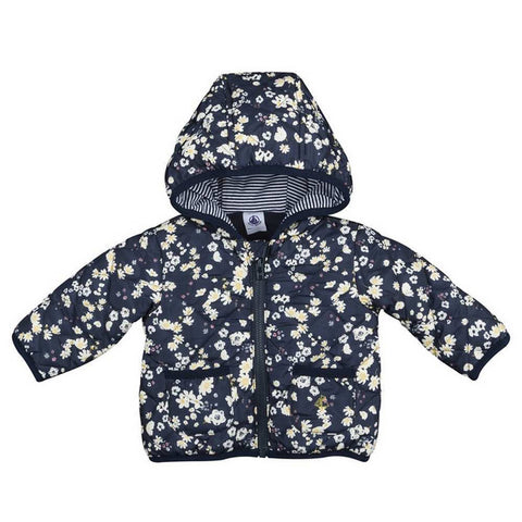 Baby Girl Floral Printer Zip Up Jacket