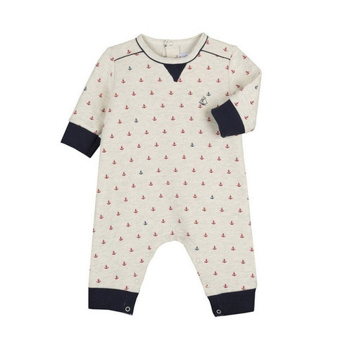 Baby Boys Anchor Print Jumpsuit