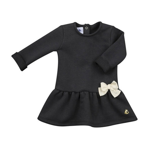 Baby Girls Long Sleeve Dress with Bow