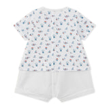 Baby Boys Printed Top with Attached Shorts