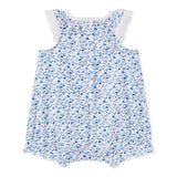 Baby Girls Sleeveless Floral Bubble