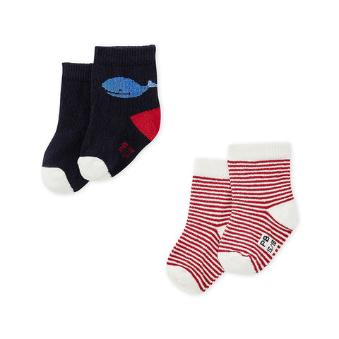 Baby Boy Socks - Set of 2 Pairs