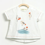 Baby Girls Flame T-shirt with Birds