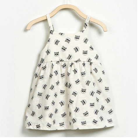 Baby Girls Raccoon Dress with Underpants