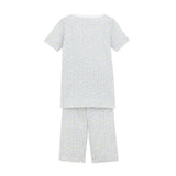 Girls Short Sleeve Pajamas with Bermuda Shorts