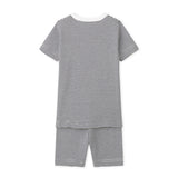 Boys Short Sleeve Pajamas with Milleraies Stripes