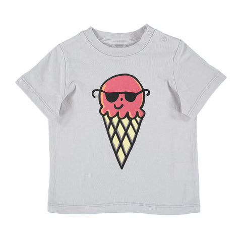 Baby Girls Ice Cream with Sunglasses Tee