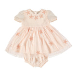 Maria Starfish Patched Tulle Dress
