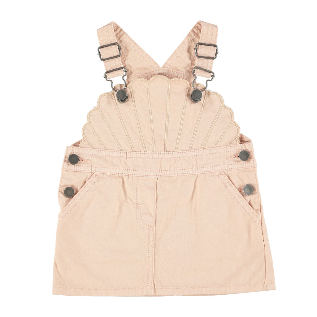 Melon Pink Dungaree Dress
