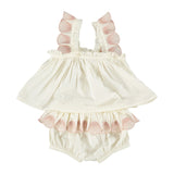 Nena Baby Girl Top + Bloomer Set