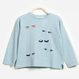 Girls Eyelash Long Sleeve T-shirt