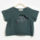 Girls Zebra Detail T-Shirt