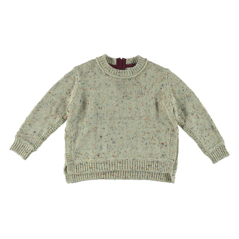 Girls Flecked Knit Pullover