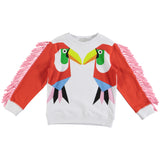 Girls Toucan Print Sweater