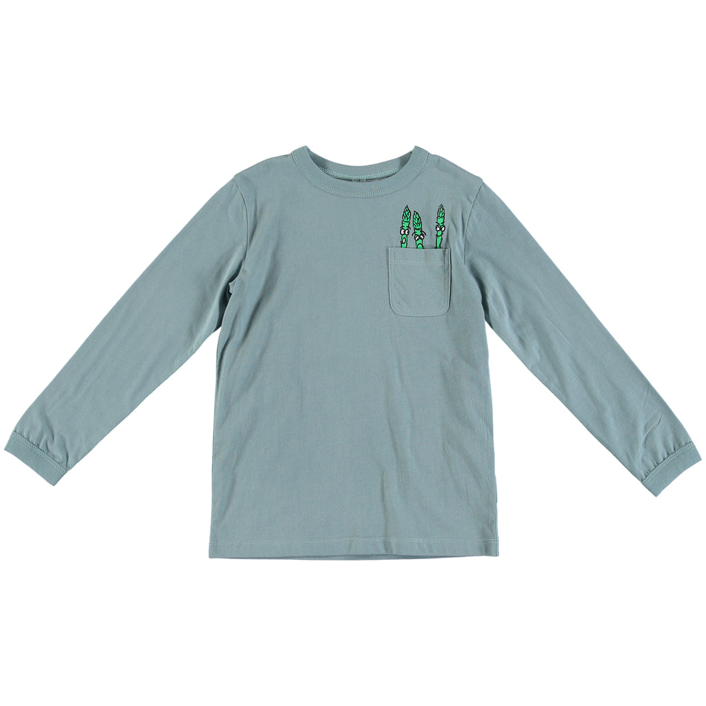 Boys Asparagus Long Sleeve Tee