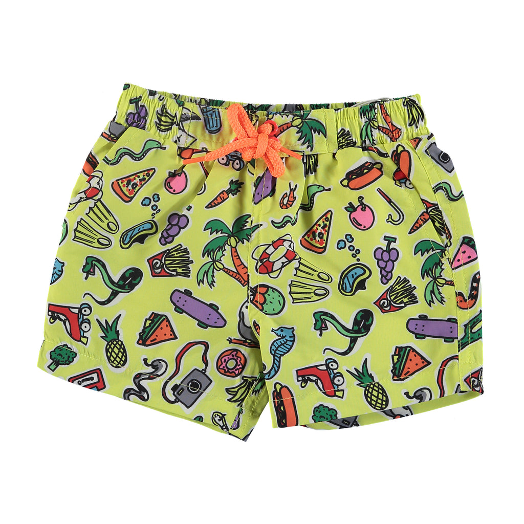 Baby Boys ToyS And Food Swim Shorts