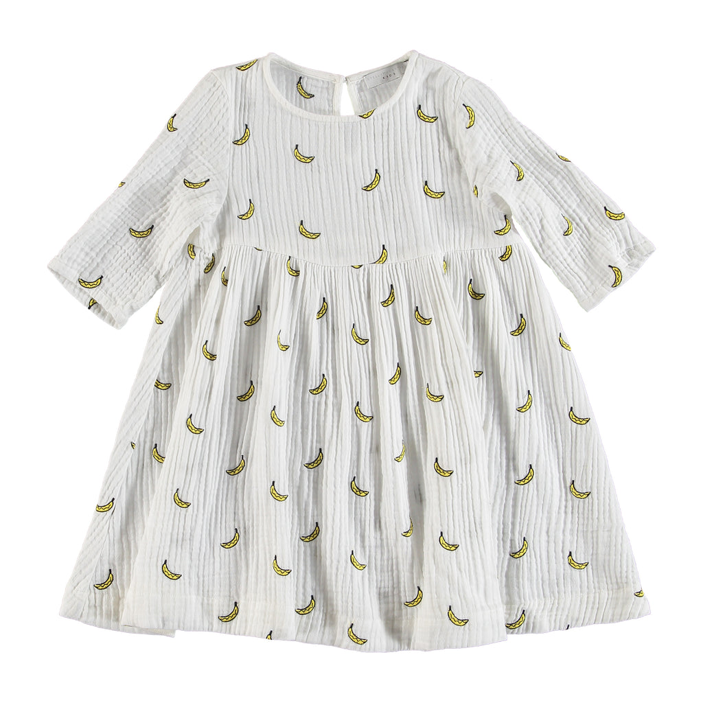 Girls Embroidered Banana Dress