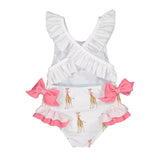 Girls Giraffe Swimsuit