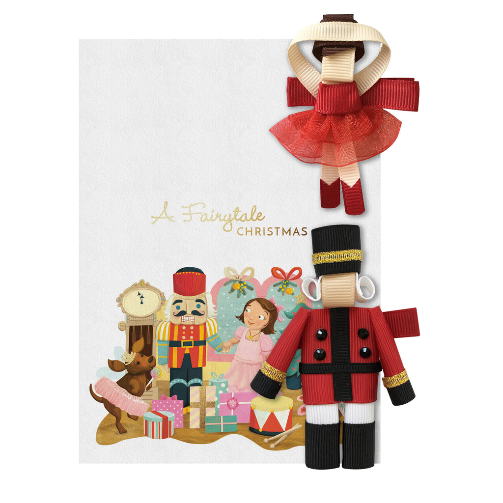 Fairytale Christmas Hair Clipper Gift Set  – Ballerina and Nutcracker