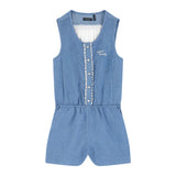 Girls' Open Back Romper