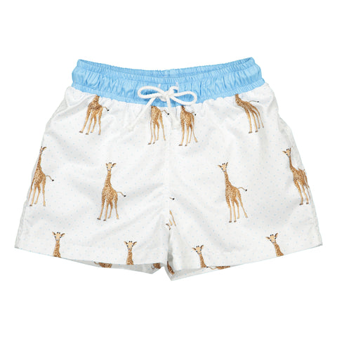 Boys Giraffe Swim Trunks