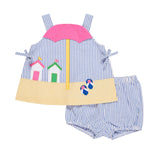 Baby Girls Beach Popover Top & Bloomer Set