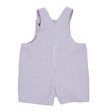 Baby Boys Seersucker Reversible Shortall