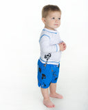 Boys Safari Print Swim Trunk