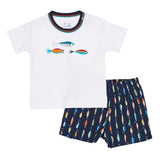 Boys White T-Shirt with Fishing Lures