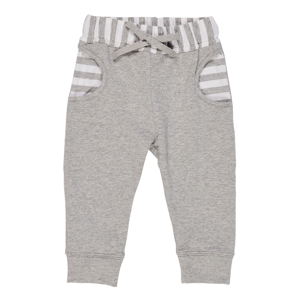 Heather Grey French Terry Jog Pant